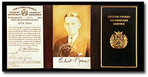 Photo of Eliot Ness's credentials.