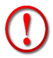 Graphic of Red Exclamation Point.