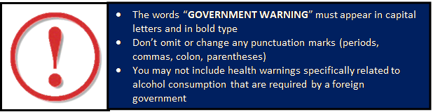 Image of the Health Warning.