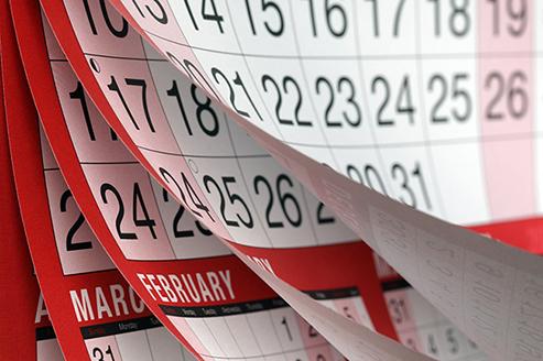 Graphic of calendar.