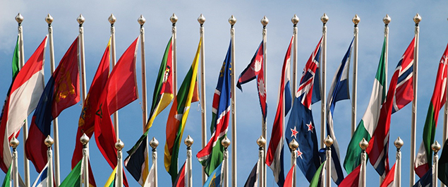 Graphic of flags.