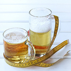 Graphic of 2 beer mugs.