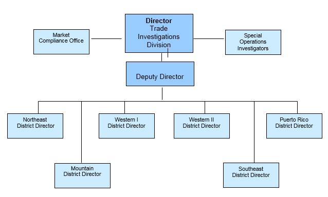 Trade Investigations Organizational Chart
