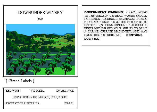 "Imported Wine - ""Approved foreign viticultural area"" as an appellation"